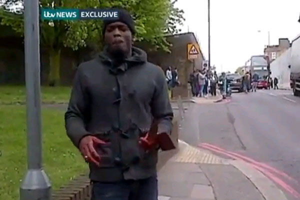 London Woolwich attacker on video