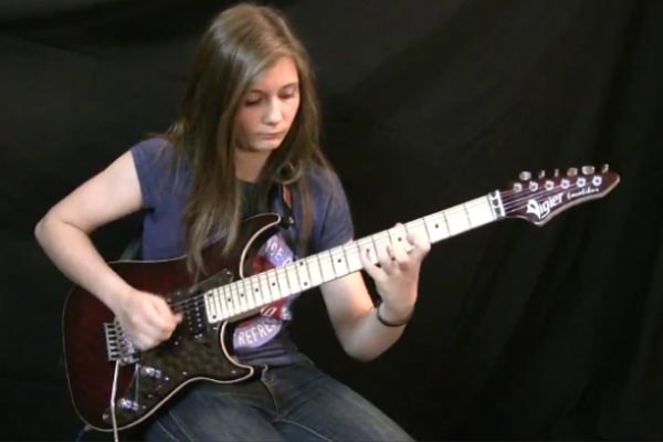 14-year-old girl shreds Van Halen's Eruption