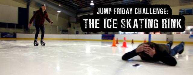 Jump Friday Challenge - Ice Skating - Can Jono jump over Bert on a pair of ice skates, or will he possibly injure (or kill) his co-host? Check out this week's dangerously stupid Jump Friday challenge!