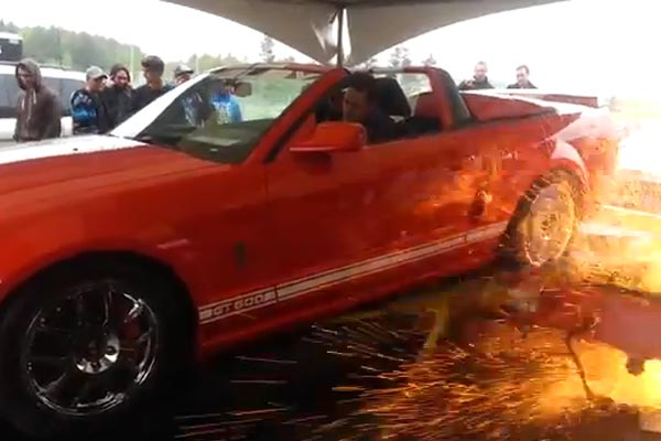 Shelby GT500 destroys dyno machine