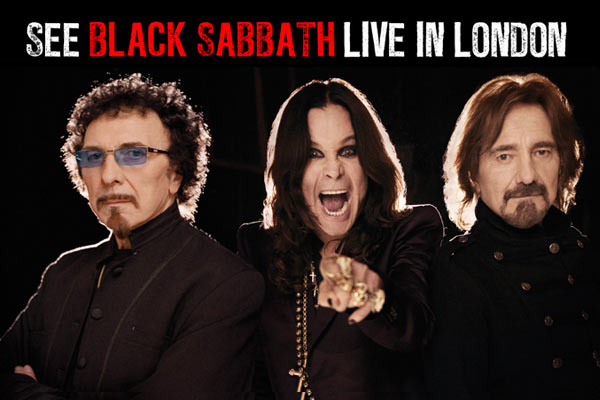 See Black Sabbath live in London