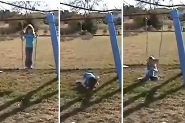 Dad films his daughter failing twice