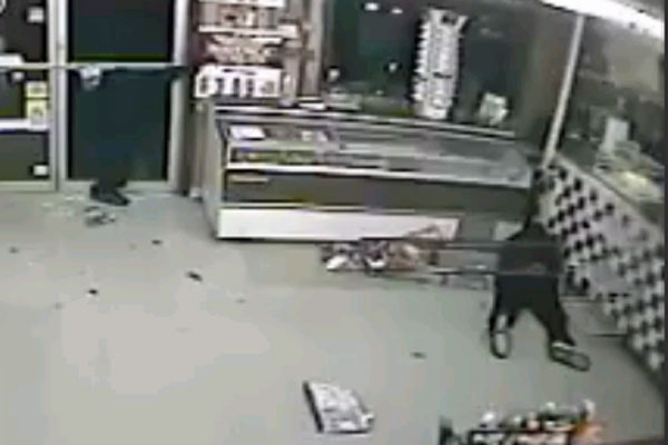 Robbers screwed over by waxed floors