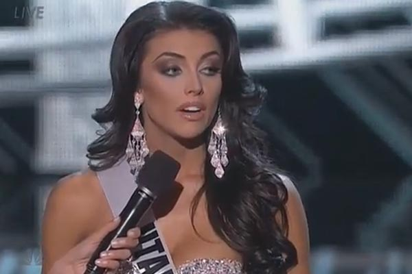 Miss Utah stumbles on interview question