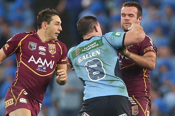 Paul Gallen vs Nate Myles fight
