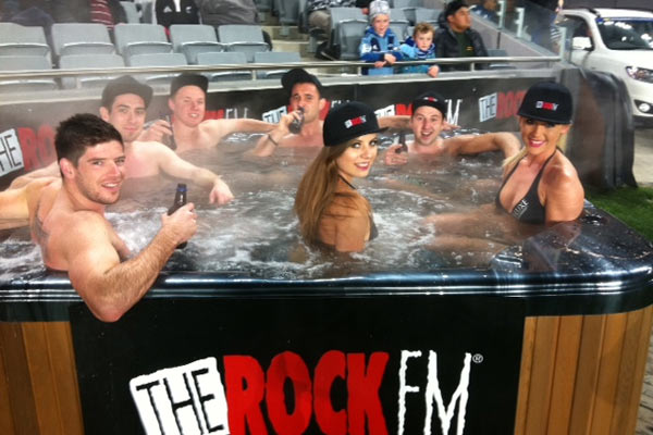 The Rock Spa Pool at the Blues game