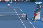 Ball kid gets sconed in the face at the Australian Open