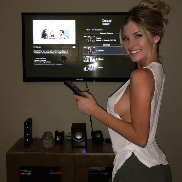 Rog's Babe of the Day - 19 November 2015 - Watch where you point that...remote.