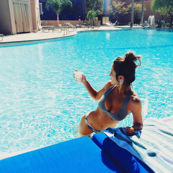 Rog's Babe of the Day - 2 November 2015 - I could get used to this poolside business.