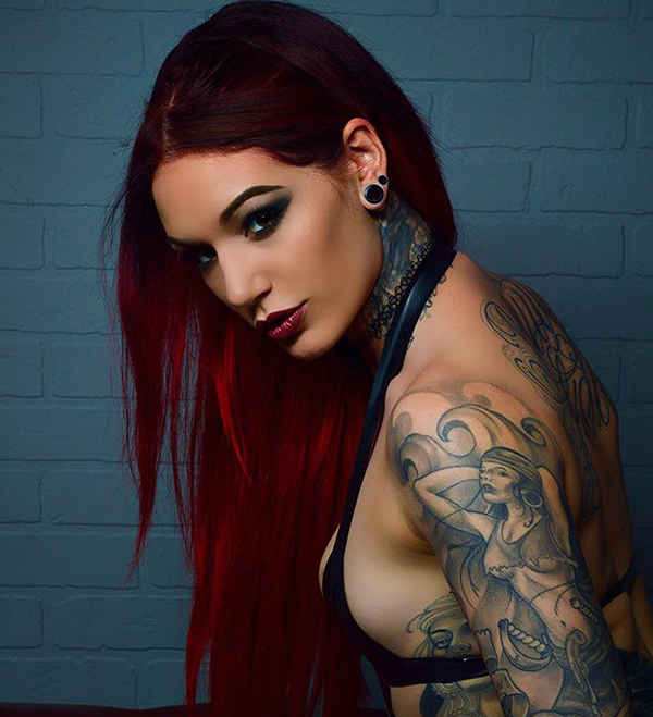 Rog's Babe of the Day - 27 November 2015 - Cervena Fox is a fire-breathing, tattooed stunner.