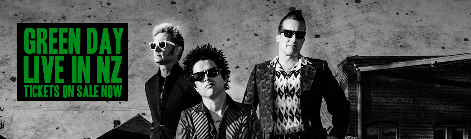 Green Day are heading to New Zealand