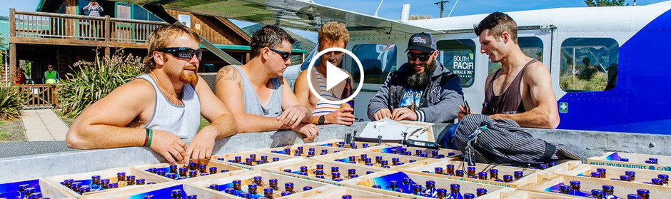 WATCH: Bryce and Dunc chopper crates to Kaikoura