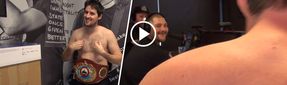 Tom puts on the WBO belt, confronts Andy Ruiz Jr