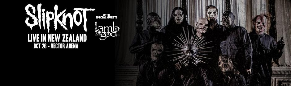 UPDATE: Slipknot announce NZ show with Lamb of God