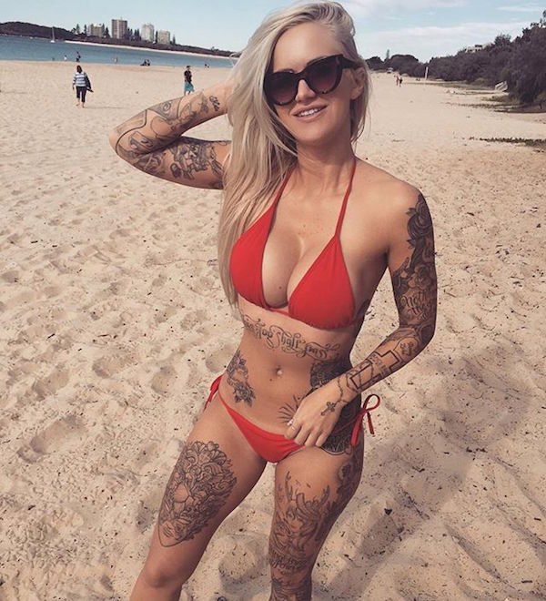 Rog's Babe of the Day - Tuesday 19 July - Got any more tattoos under that bikini?