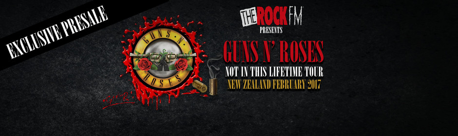 Get your Guns N' Roses presale tickets now