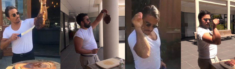 Jim attempts to recreate the #SaltBae video