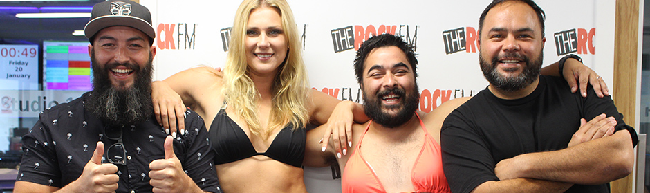 Thane & Dunc trial out two bikini-clad newsreaders for #BikiniFriday